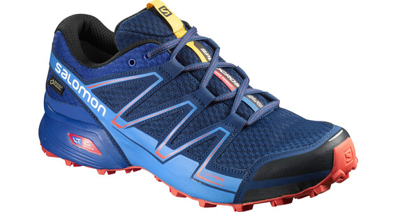 Salomon M's Speedcross Vario GTX Shoes Blue Depth/Blue Yonder/Lava Orange